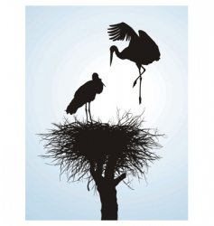 betrothal storks vector image