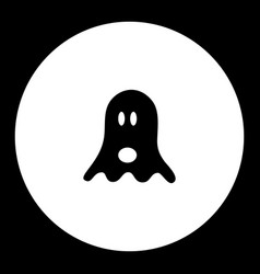 Black ghostly ghost simple isolated icon eps10 vector