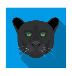 black panther icon in flat style isolated on white vector image vector image