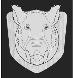 Boar head chalk vector