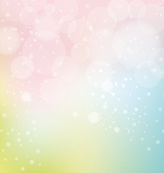 Bokeh and smooth pastel background vector