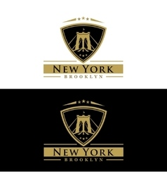Brooklyn bridge new york vector