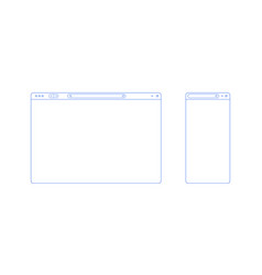 browser template outline with blank place for vector image