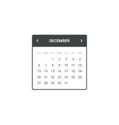 Calendar Widget vector image