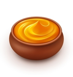 Ceramic Pot of dense Amber Honey Isolated vector