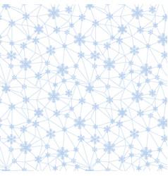 christmas snowflakes net seamless pattern vector image