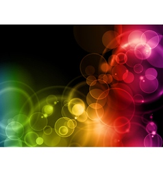 colorful magic lights vector image