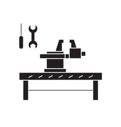 craftsman studio black concept icon vector image