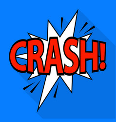 crash icon pop art style vector image
