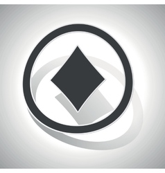 Curved diamonds sign icon vector