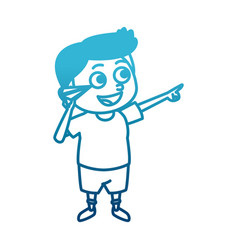 Cute schoolboy cartoon vector