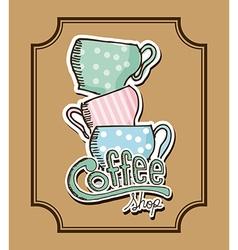 delicious coffee vector image