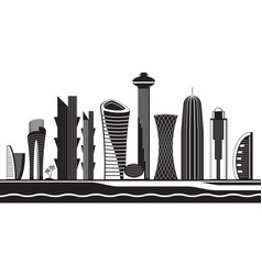 Doha skyline by day vector