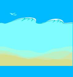 empty sand sea bottom vector image