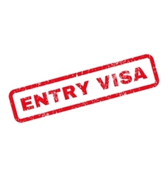 Entry Visa Text Rubber Stamp vector