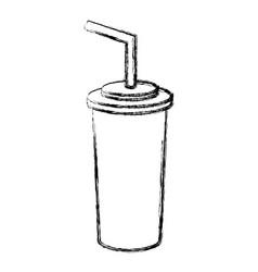 Figure soda beverage in the cinema movie scene vector