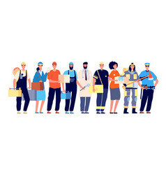 frontliners characters essential workers vector image