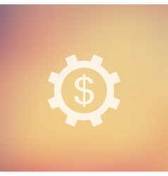 Gear and dollar sign in flat style icon vector image