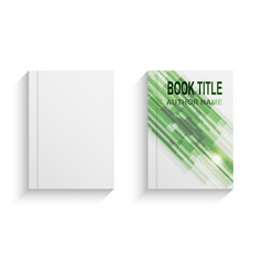 green abstract book cover design template vector image