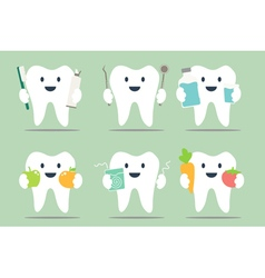 Healthy teeth set vector