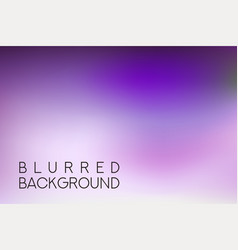 horizontal wide purple blurred background vector image