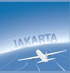 Jakarta flight destination vector
