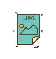 Jpg application download file files format icon vector