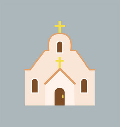 Large orthodox cathedral house of god catholic vector