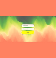 login user interface modern screen design for vector image