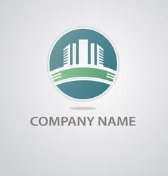 Logo construction company vector