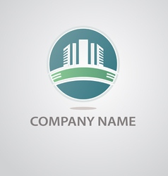 logo of the construction company vector image