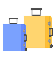 luggage for travelers to hold goods during trip vector image