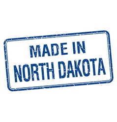Made in North Dakota blue square isolated stamp vector