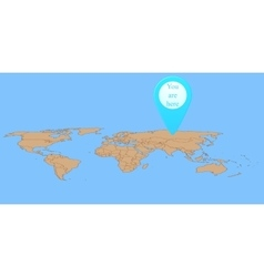Map marker on world map vector