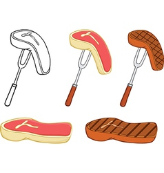 Meat on a stick cartoon vector