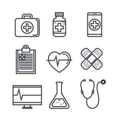 medical objects vector image