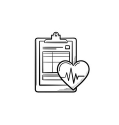 medical record hand drawn outline doodle icon vector image