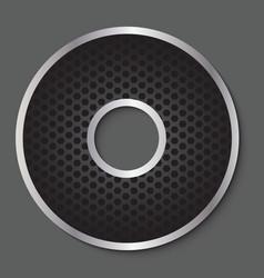 Metal grid font - letter O vector image