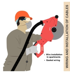 Mounting wiring vector image