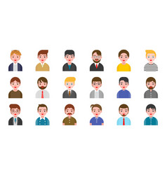 office business male people avatar character in vector image