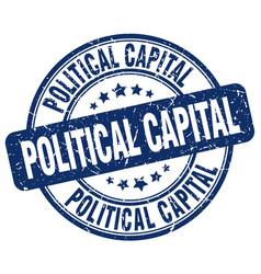 Political capital blue grunge stamp vector