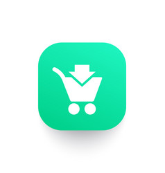 Purchase add to shopping cart icon vector