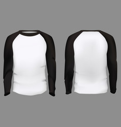 realistic detailed 3d men slim-fitting long sleeve vector image