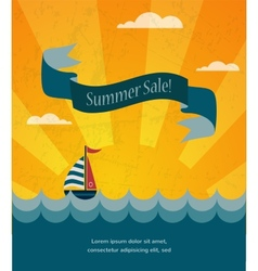 Retro summer sale poster infographic vector