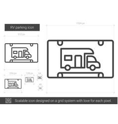 rv parking line icon vector image