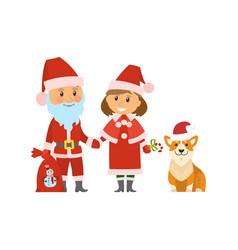 santa claus christmas holidays winter character vector image
