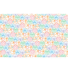 Seamless background in the form of an smiles vector