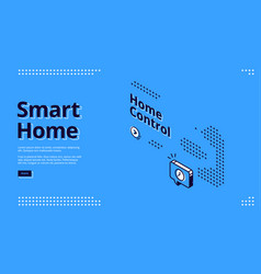 smart home internet things isometric web vector image