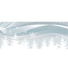 Snow falls on white christmas tree vector