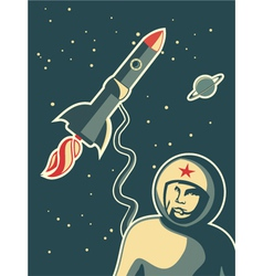 Spaceman background vector